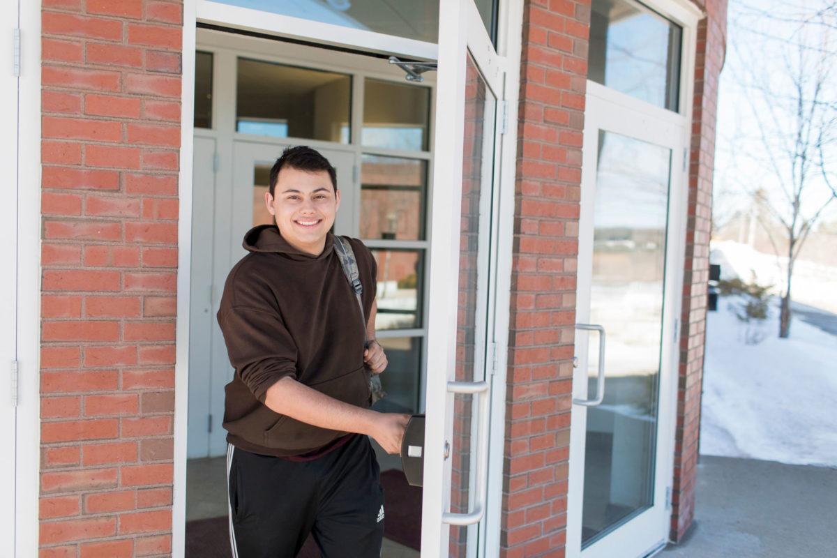 WCCC student walking through doorway