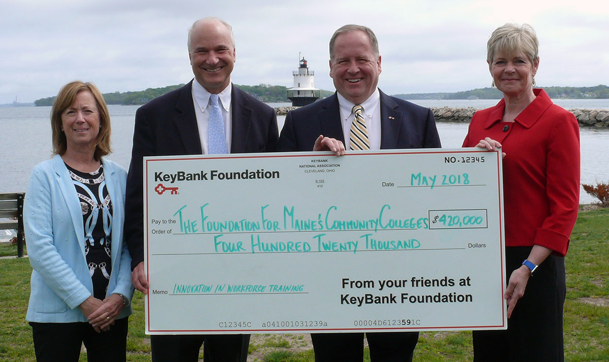KeyBank presents donation to The Foundation