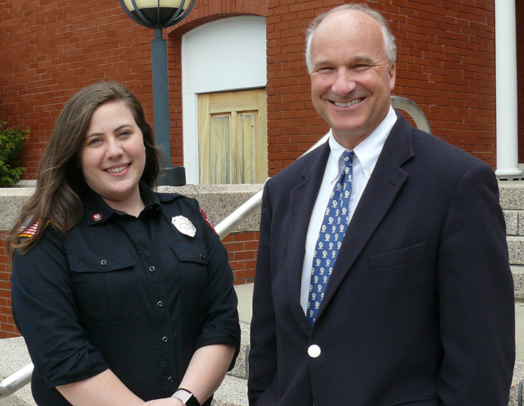 President Langhauser and Student Trustee Nicki Fowlie
